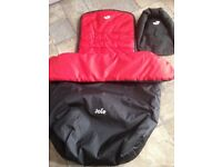 Pushchair / Stroller Cosy Toes, liner and Rain Cover