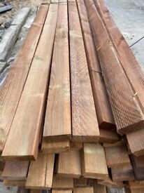 20 x 1.83 - 75 x 32 timber wooden fencing panel DIY rail