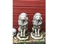 Ornament lion statue