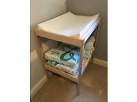 Changing table and associated Mat- Never used