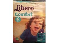 Libero Comfort Size 6 Nappies 22 in a pack. 22 packs available