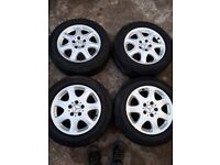 """Mercedes 16"""" alloy wheels and tyres."""