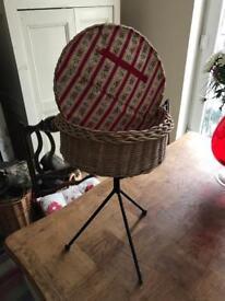 Cane Sewing Basket