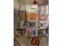 Wii - 9 games for Wii, used