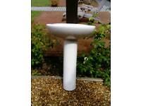 Bathroom pedalstall sink