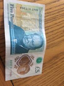 Five pound note ak47