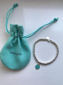 Return to Tiffany Silver Bead Bracelet