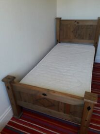 Mexican pine single bed frame.