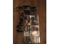 Xbox 360 limited edition halo 4 with 10 quality games