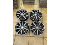 Genuine Mini Black Alloy Wheels x4 17inch