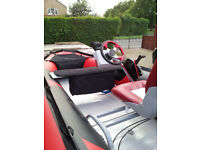 inflatable boat, excellent condition aluminum floor