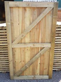 Super Heavy Duty Vertical Board Feather Edge Garden Gates Pressure Treated Fully Framed DERBYSHIRE