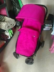 Mamas and papas pink pram pushcair