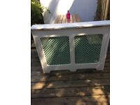 White Radiator Cover In Good Condition