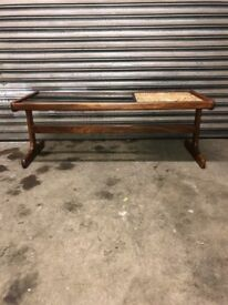 G Plan Vintage Danish1970s Smoked Glass & Tiled Teak Fresco Coffee Table - retro