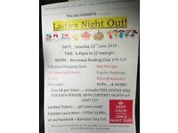 Ladies Night fun fizz fundraising