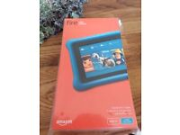 Brand new unopened amazon fire kids edition 5th generation (latest model) blue case
