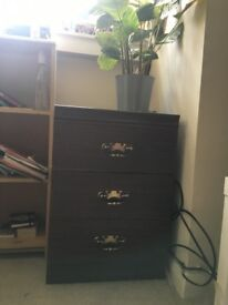 Brown Chest of Drawers Set