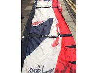 Kitesurf Kite wth Lines