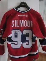 Maillot de Hockey Canadien autographe authentique Doug Gilmour