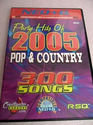 Chartbuster Karaoke  CB8533 - RSQ Player ONLY Party Hits of 2005 - NEO+G DVD (Neo+g Karaoke)