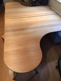 Desks (x2), plus filling cabinets (x2) plus desk protectors (x2)