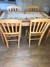 John Lewis Fasano table and 4 chairs
