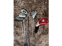5 Golf Clubs (wedges/driving iron/wood)