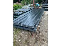 JUST COME IN ! Black polyester coated box profile roofing sheets