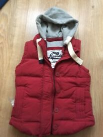 Women's Superdry red gilet size small - Excellent condition