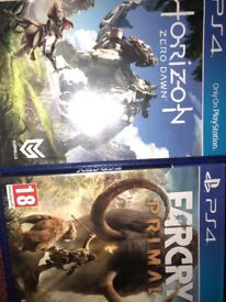 Horizon and far cry PS4 games