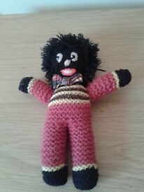 Vintage hand knitted Golly