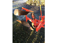 Kubota single furrow reversible plough for compact tractor