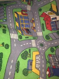 Car mat play mat road