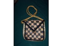 Handcrafted Fashionable Accesory HandBag (Gold and Black)