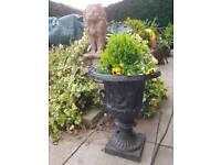 2 Cast iron garden planters