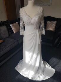 Verise Bridal Wedding Dress/ Gown NEW UNWORN Elsa Size 10 Ivory