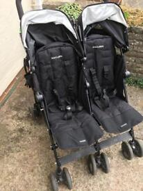Maclaren techno twin double buggy pushchair