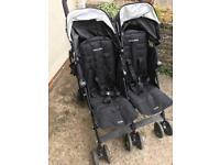 Maclaren techno twin double buggy pushchair