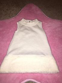 River Island Baby Girls White Dress 0-3 Months