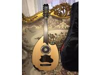 EGYPTIAN PROFESSIONAL HALF CUT ELECTRIC / NORMAL OUD UD STRING INSTRUMENT MADE BY SANTOS