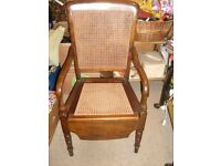 Antique Bergere Commode Chair