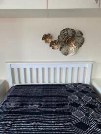 White Double bed & mattress