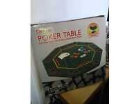Deluxe Folding Poker Table