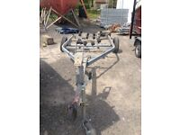 Indespension Boat Trailer (unbraked, 750kg gross weight, 5.5m max length, spares & repairs)