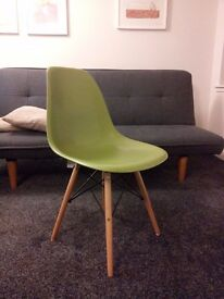 Charles Eames Inspired ABS Plastic DSW Eiffel Chair in green