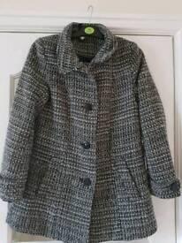 H&M Black and White Winter Coat