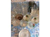 Job Lot of Vintage and Retro Glasses, Dishes, Jugs and Vase