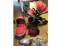 Icandy peach jogger, car seat and easy base