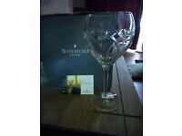 A pair Irish Waterford Crystal glass Goblets. CLANNAD Celtic Knot design boxed mint condition.